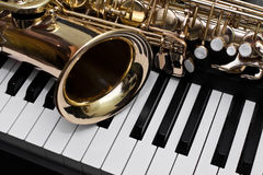Τεμάχιο του saxophone Στοκ φωτογραφίες με δικαίωμα ελεύθερης χρήσης
