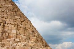 Τεμάχιο των μεγάλων πυραμίδων Στοκ Εικόνες