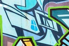 Τεμάχιο των φωτεινών γκράφιτι τέχνης οδών Στοκ φωτογραφίες με δικαίωμα ελεύθερης χρήσης