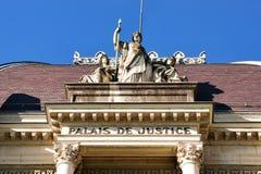 Τεμάχιο Palace de Justice Montbenon στη Λωζάνη Στοκ εικόνα με δικαίωμα ελεύθερης χρήσης
