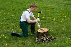 τεμαχίζοντας δάσος Στοκ εικόνα με δικαίωμα ελεύθερης χρήσης