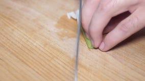 τεμαχίζοντας κρεμμύδι απόθεμα βίντεο