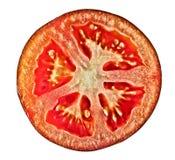 τεμαχίστε την ντομάτα Στοκ Εικόνες