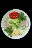 Τεμαχισμένα λαχανικά στο πιάτο Στοκ φωτογραφία με δικαίωμα ελεύθερης χρήσης