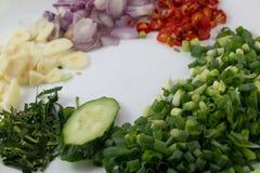 τεμαχισμένα λαχανικά Στοκ φωτογραφία με δικαίωμα ελεύθερης χρήσης