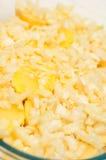Τεμαχισμένα κρεμμύδια και popatoes Στοκ Εικόνα