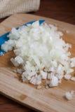 Τεμαχισμένα κρεμμύδια Στοκ φωτογραφία με δικαίωμα ελεύθερης χρήσης