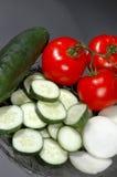 τεμαχισμένα λαχανικά Στοκ εικόνα με δικαίωμα ελεύθερης χρήσης
