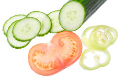 τεμαχισμένα λαχανικά Στοκ Εικόνα