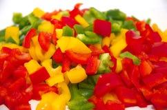 τεμαχισμένα πιπέρια στοκ εικόνες