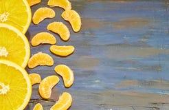 Τεμαχισμένα πορτοκάλια €‹ στοκ εικόνα