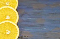 Τεμαχισμένα πορτοκάλια €‹ στοκ φωτογραφίες