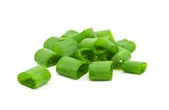 τεμαχισμένα πράσινα κρεμμύδια Στοκ Φωτογραφία