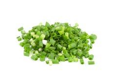 τεμαχισμένα πράσινα κρεμμύδια Στοκ φωτογραφία με δικαίωμα ελεύθερης χρήσης
