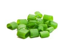 Τεμαχισμένα πράσινα κρεμμύδια Στοκ Εικόνες