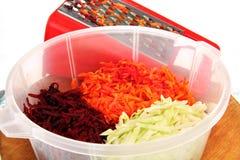 Τεμαχισμένα τεύτλα, καρότα και κρεμμύδια. Στοκ φωτογραφία με δικαίωμα ελεύθερης χρήσης