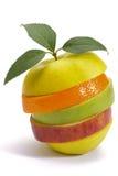 Τεμαχισμένα φρέσκα μικτά φρούτα Στοκ Εικόνα