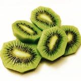 Τεμαχισμένα φρούτα ακτινίδιων Στοκ Εικόνες