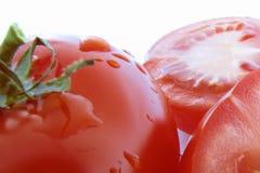 Τεμαχισμένες κόκκινες ντομάτες Στοκ Φωτογραφίες
