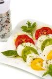 τεμαχισμένες μοτσαρέλα ντομάτες στοκ φωτογραφία με δικαίωμα ελεύθερης χρήσης