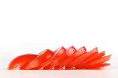 τεμαχισμένη αποκοπή ντομάτα χαρτονιών Στοκ Εικόνες