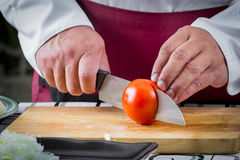 Τεμαχισμένη αρχιμάγειρας ντομάτα Στοκ φωτογραφίες με δικαίωμα ελεύθερης χρήσης