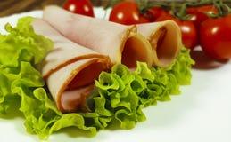 Τεμαχισμένη κρέας ντομάτα μαρουλιού φύλλων †‹â€ ‹ Στοκ φωτογραφία με δικαίωμα ελεύθερης χρήσης