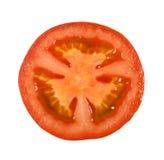 Τεμαχισμένη ντομάτα στο άσπρο υπόβαθρο Στοκ Εικόνες