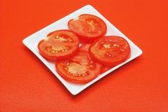 τεμαχισμένη ντομάτα Στοκ Εικόνα