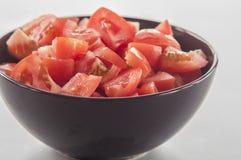 τεμαχισμένη ντομάτα Στοκ Φωτογραφίες
