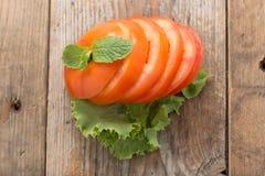 τεμαχισμένη ντομάτα Στοκ εικόνες με δικαίωμα ελεύθερης χρήσης