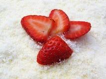 Τεμαχισμένη φράουλα Στοκ φωτογραφίες με δικαίωμα ελεύθερης χρήσης