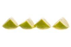 τεμαχισμένος πράσινος απομονωμένος ασβέστης Στοκ Εικόνες