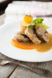 Τεμαχισμένος ρόλος κρέατος Στοκ Εικόνες