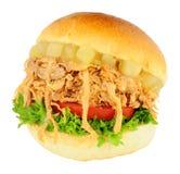 Τεμαχισμένος ρόλος χοιρινού κρέατος και σάντουιτς της Apple Στοκ φωτογραφία με δικαίωμα ελεύθερης χρήσης