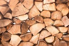 τεμαχισμένος firewoods Στοκ φωτογραφία με δικαίωμα ελεύθερης χρήσης