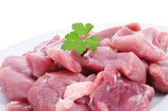 Τεμαχισμένο ακατέργαστο κρέας της Τουρκίας Στοκ Φωτογραφίες