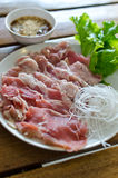 Τεμαχισμένο βόειο κρέας Στοκ Εικόνα