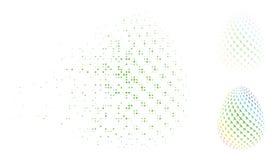 Τεμαχισμένο εικονίδιο αυγών αεροπορίας εικονοκυττάρου ημίτονο αφηρημένο Διανυσματική απεικόνιση