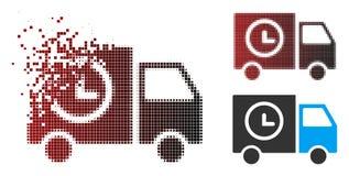 Τεμαχισμένο εικονοκύτταρο ημίτοή Shipment Schedule Van Icon διανυσματική απεικόνιση