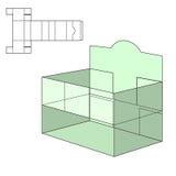 Τεμαχισμένο κιβώτιο τεχνών διανυσματική απεικόνιση