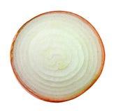 Τεμαχισμένο κρεμμύδι στο άσπρο υπόβαθρο στοκ εικόνα