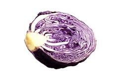 Τεμαχισμένο κόκκινο λάχανο που απομονώνεται στο άσπρο υπόβαθρο στοκ φωτογραφία με δικαίωμα ελεύθερης χρήσης