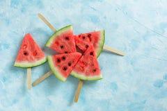 Τεμαχισμένο παγωτό καρπούζι φρούτων στοκ εικόνες