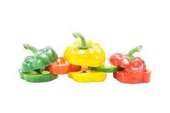 Τεμαχισμένο πιπέρι κουδουνιών Στοκ εικόνες με δικαίωμα ελεύθερης χρήσης