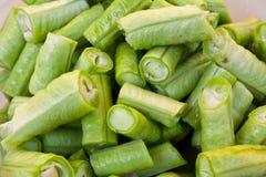 Τεμαχισμένο πράσινο φασόλι Στοκ Εικόνες