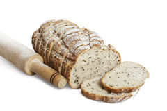 Τεμαχισμένο ψωμί σίκαλης με το λιναρόσπορο Στοκ φωτογραφία με δικαίωμα ελεύθερης χρήσης