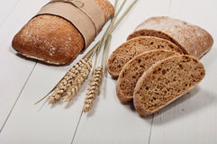 Τεμαχισμένο ψωμί Ciabatta στοκ εικόνες