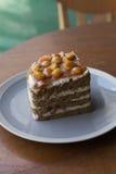 Τεμαχισμένο macadamia κέικ Στοκ εικόνες με δικαίωμα ελεύθερης χρήσης
