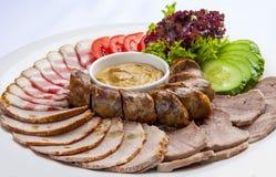 Τεμαχισμός πρόχειρων φαγητών κρέατος στοκ φωτογραφία